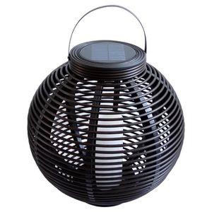 MUNDUS Lanterne tressée en plastique ?42 x H40,5 cm - Noir
