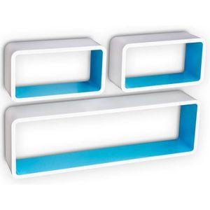 etagere cube bleu achat vente etagere cube bleu pas cher cdiscount. Black Bedroom Furniture Sets. Home Design Ideas