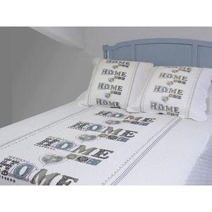 couvre lit 260x240 achat vente couvre lit 260x240 pas cher cdiscount. Black Bedroom Furniture Sets. Home Design Ideas