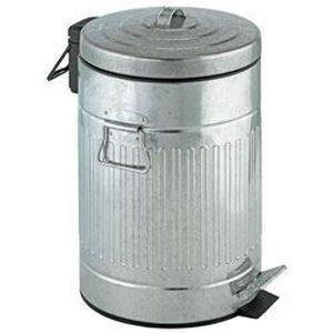 Poubelle en zinc achat vente poubelle en zinc pas cher cdiscount for Poubelle en zinc