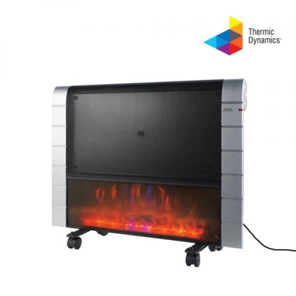 radiateur lectrique effet feu chemin e sur mur ou au. Black Bedroom Furniture Sets. Home Design Ideas
