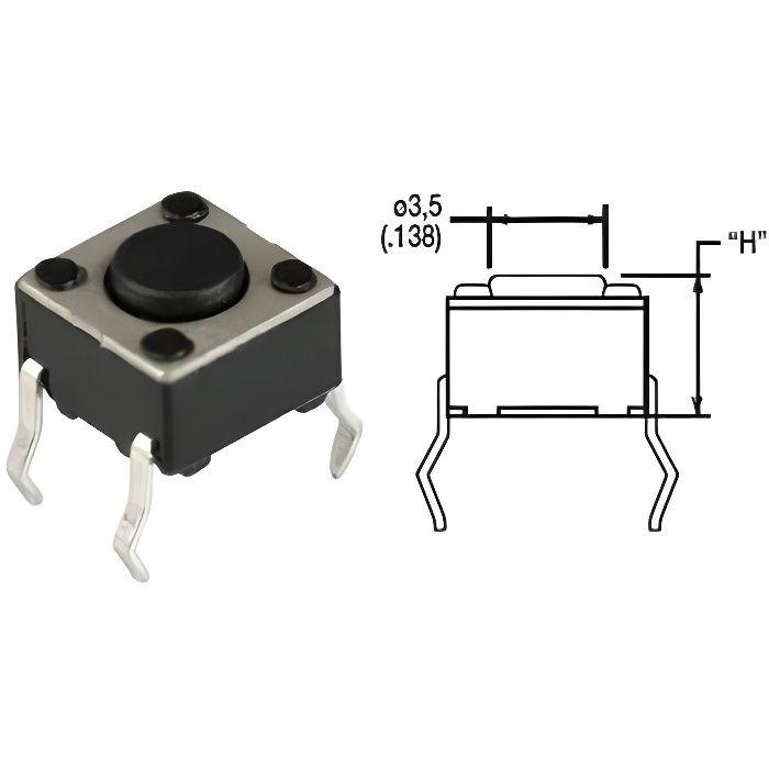 778859 bouton poussoir micro haut du bouton 0 8 achat. Black Bedroom Furniture Sets. Home Design Ideas