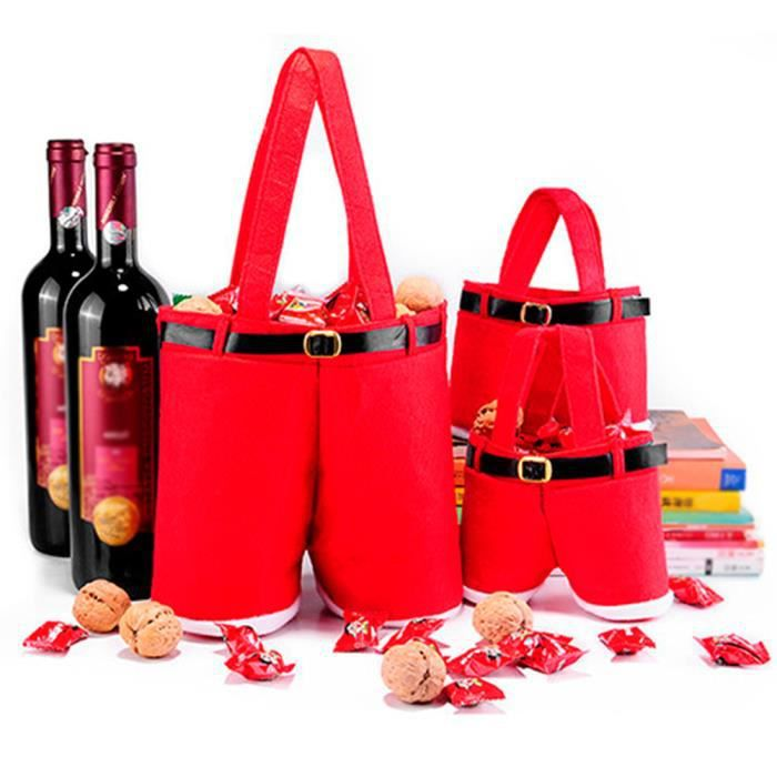 pantalon du p re no l sucrerie de no l cadeau sac couverture de bouteille de vin achat vente. Black Bedroom Furniture Sets. Home Design Ideas