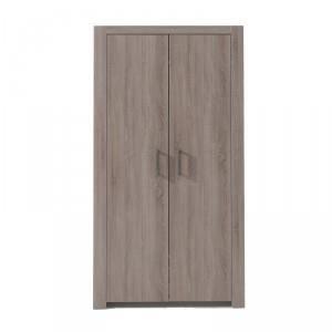 armoire de chambre armoire 2 portes lucas marron paris prix. Black Bedroom Furniture Sets. Home Design Ideas