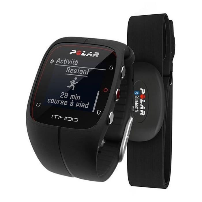 polar montre connect e cardiofr quencem tre gps m400 noir. Black Bedroom Furniture Sets. Home Design Ideas