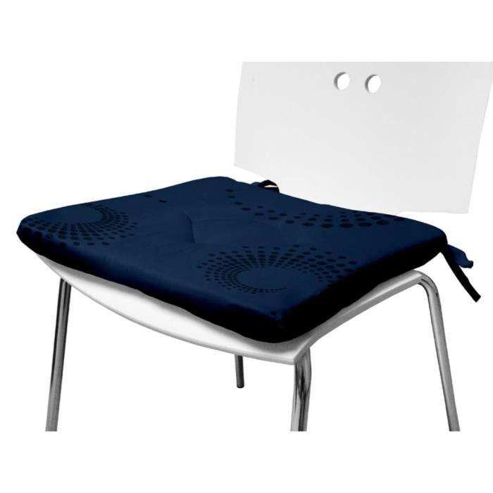 dessus de chaise cargoline bleu achat vente coussin de chaise les soldes sur cdiscount. Black Bedroom Furniture Sets. Home Design Ideas