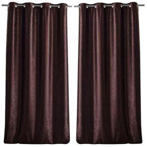 double rideaux chocolat achat vente double rideaux chocolat pas cher cdiscount. Black Bedroom Furniture Sets. Home Design Ideas