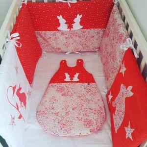 ensemble tour de lit gigoteuse achat vente ensemble. Black Bedroom Furniture Sets. Home Design Ideas