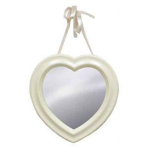 Miroir blanc romantique achat vente miroir blanc for Miroir romantique
