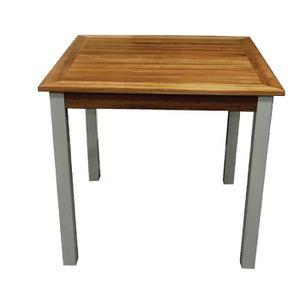 Table carree en teck achat vente table carree en teck for Table exterieur teck pas cher
