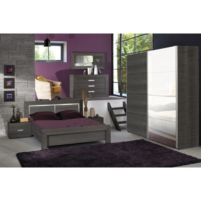 Avignon chambre compl te adulte 140cm achat vente for Chambres adultes completes