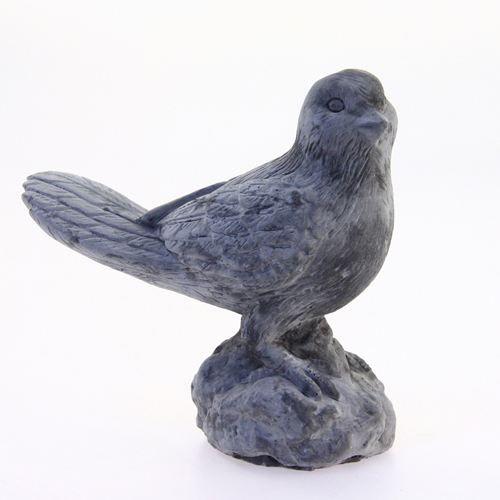 oiseau d coratif en ciment gris achat vente statue. Black Bedroom Furniture Sets. Home Design Ideas
