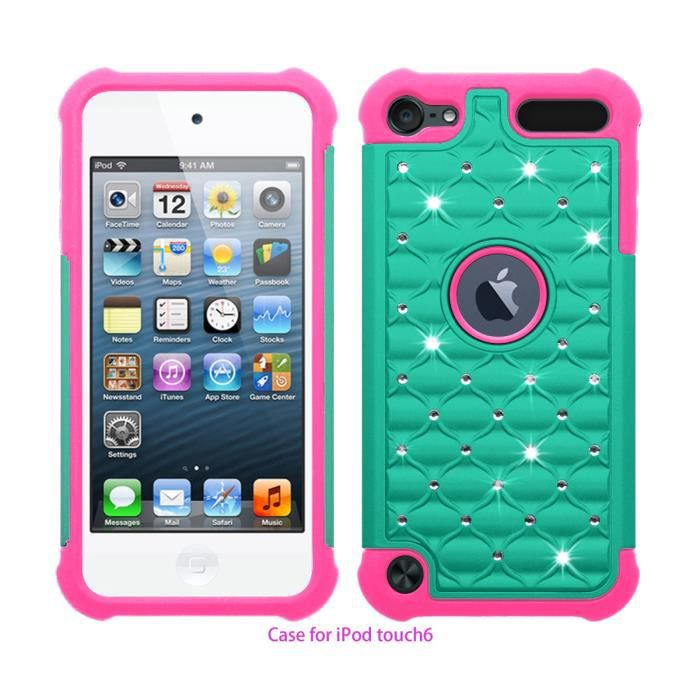 Coque housse etui apple ipod touch 5 touch 6 bleu clair for Housse ipod touch 5