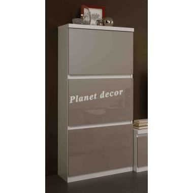 meuble colonne roma blanc gris achat vente vitrine. Black Bedroom Furniture Sets. Home Design Ideas