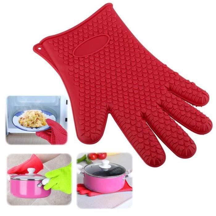 Insten 1 gant de cuisine en silicone r sistant anti - Gant de cuisine anti chaleur ...