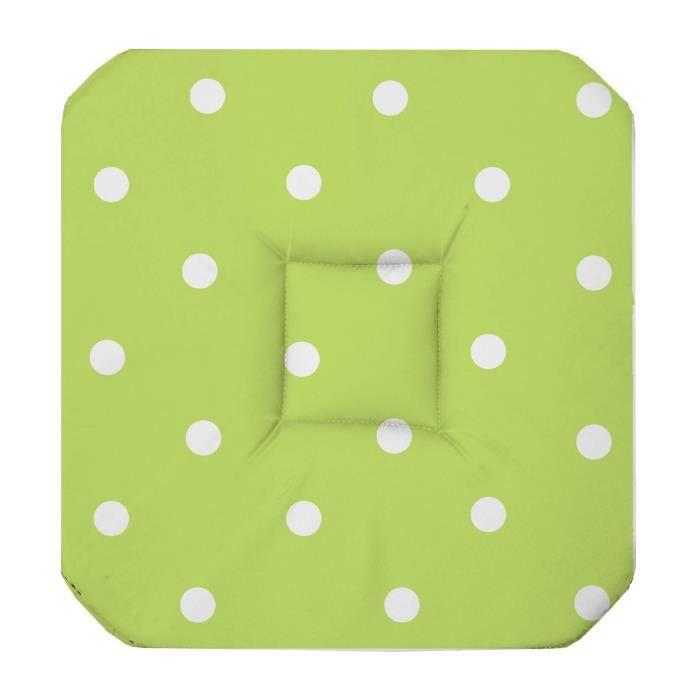 Galette de chaise 4 rabats lollypop menthe achat vente for Galette de chaise 4 rabats