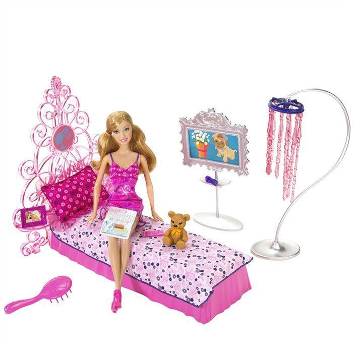 MAISON POUPÉE Barbie Chambre Rose + Summer + Accessoires