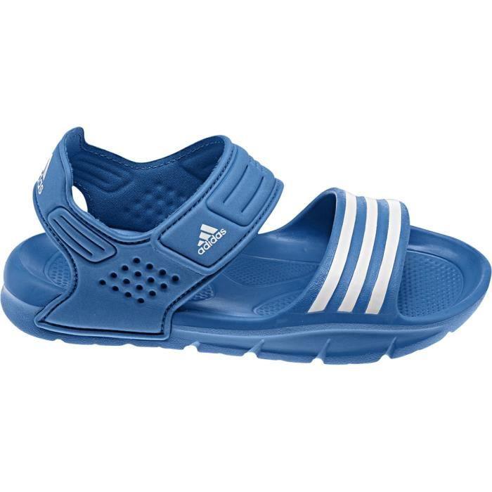 Sandales adidas akwah 8 k bleu bleu achat vente for Sandale adidas piscine