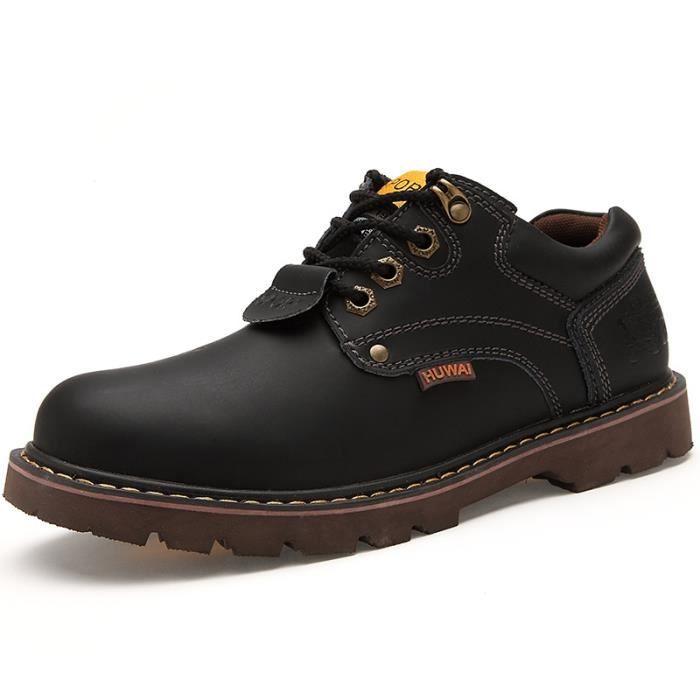 chaussure homme bottine homme pour l 39 hiver noir noir achat vente bottine cdiscount. Black Bedroom Furniture Sets. Home Design Ideas
