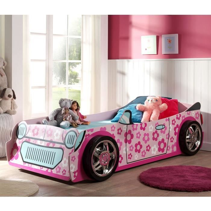 paris prix lit enfant voiture flowers rose achat. Black Bedroom Furniture Sets. Home Design Ideas