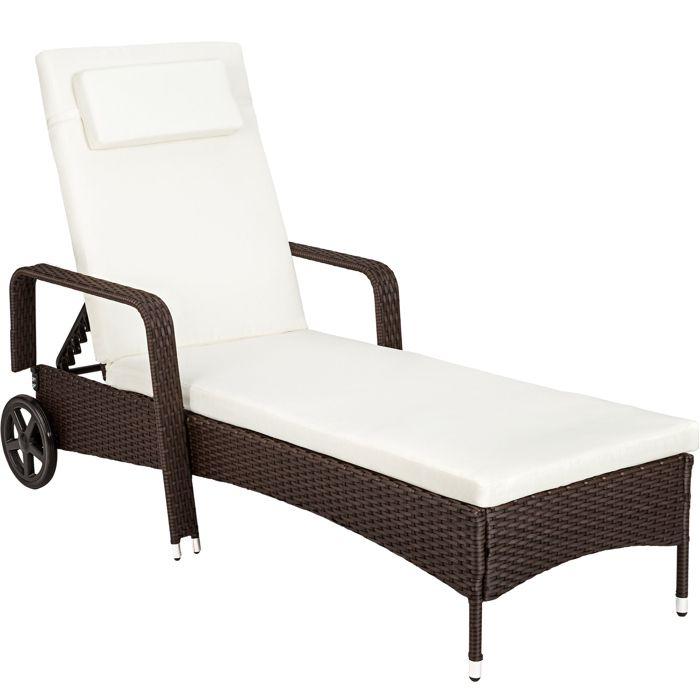 Chaise longue transat bain de soleil en r sine tress e for Chaise longue 200 cm