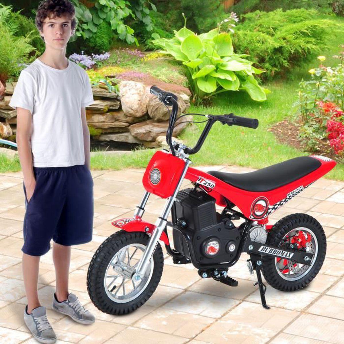 moto v hicule lectrique pour enfant plus de 14 ans 350w avec cl tube acier pneu cacoutchouc. Black Bedroom Furniture Sets. Home Design Ideas