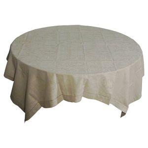 nappe carree 160x160 cm achat vente nappe carree 160x160 cm pas cher cdiscount. Black Bedroom Furniture Sets. Home Design Ideas