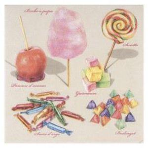 SERVIETTE JETABLE Paquet de 20 serviettes en papier Les Bonbons