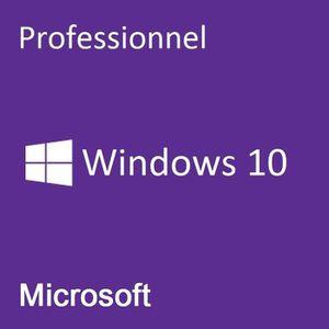 LOGICIEL À TÉLÉCHARGER Windows 10 Professionnel / Livraison en 1H & 24/24