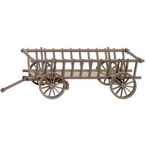 Charette en bois achat vente charette en bois pas cher for Decoration ancienne pas cher