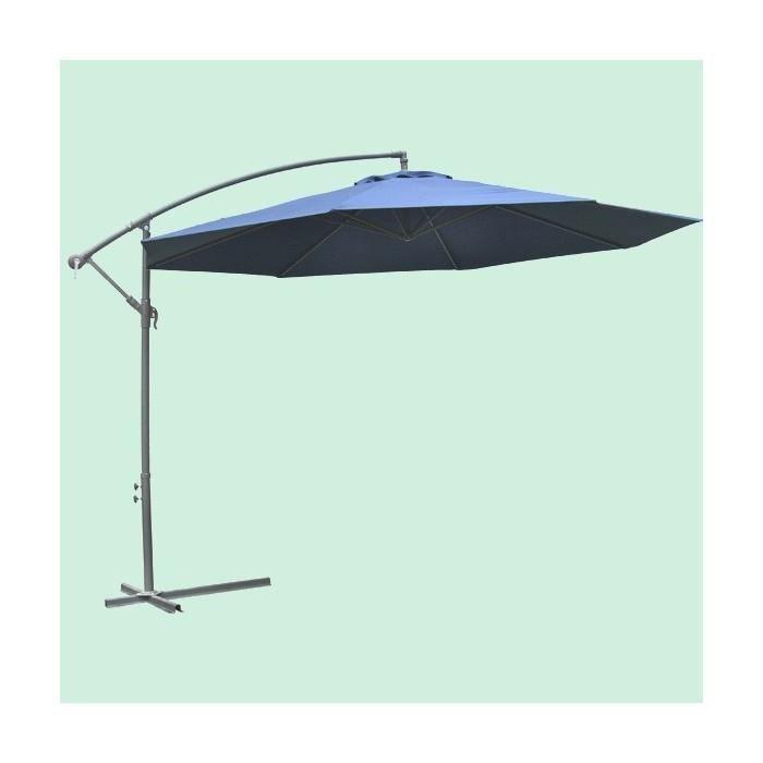 Parasol d port rond diam tre 3 50m vert achat vente parasol parasol d - Parasol sur pied deporte ...