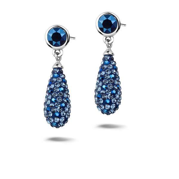 boucle d 39 oreille argent et cristal swarovski bleu achat vente boucle d 39 oreille boucle d. Black Bedroom Furniture Sets. Home Design Ideas