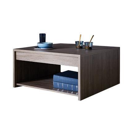 Table basse d cor ch ne fonc achat vente table basse table basse d c - Table basse interiors ...