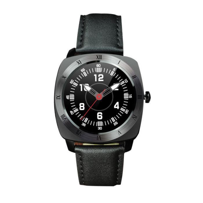 noir rappel intelligent watch appel moniteur de fr quence cardiaque smartwatch distance pour. Black Bedroom Furniture Sets. Home Design Ideas