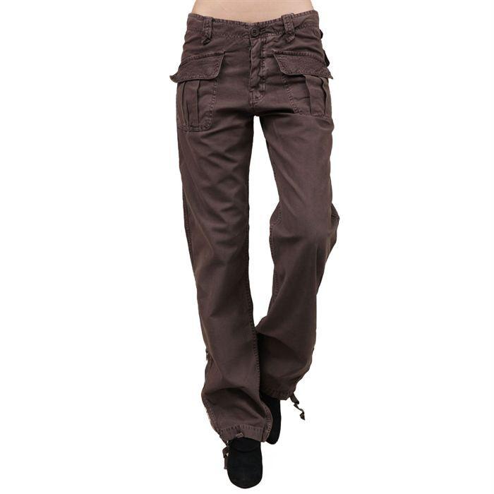 Treillis le temps des cerises f marron achat vente pantalon treillis le temps des cerises - Pantalon treillis femme le temps des cerises ...