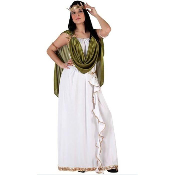costume femme d guisement adulte imp ratrice romaine vert blanc achat vente d guisement. Black Bedroom Furniture Sets. Home Design Ideas