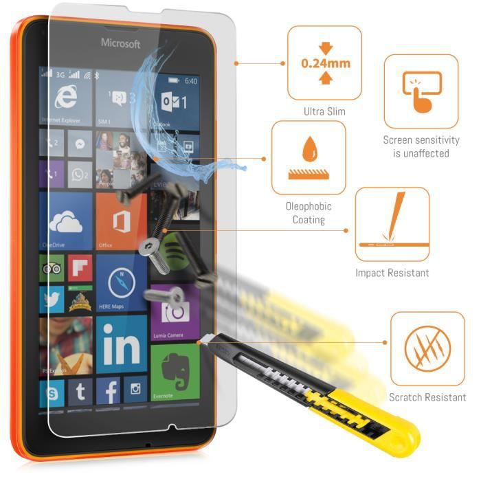 orzly film verre tremp microsoft lumia 640 hq achat film protect t l phone pas cher avis et. Black Bedroom Furniture Sets. Home Design Ideas