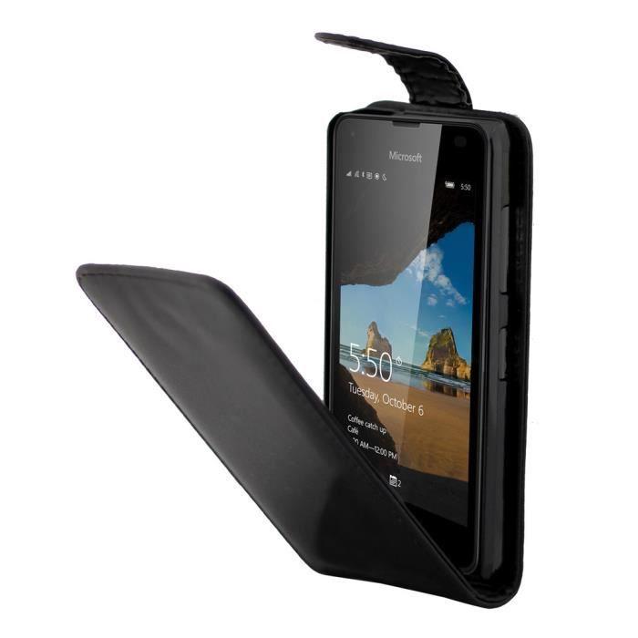Pour microsoft lumia 550 housse simple mode pu cuir tui for Housse lumia 550