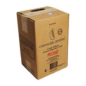VIN ROSÉ Bag-in-Box Chevalier Cransac Rosé 500cl VDP Comté
