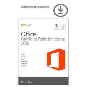Microsoft office mac prix pas cher soldes cdiscount - Office famille et petite entreprise 2013 telecharger ...