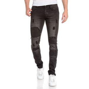 jeans troue homme achat vente jeans troue homme pas cher soldes cdiscount. Black Bedroom Furniture Sets. Home Design Ideas