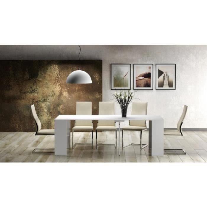 Goomy table console extensible de 8 10 personnes style for Table 8 personnes extensible