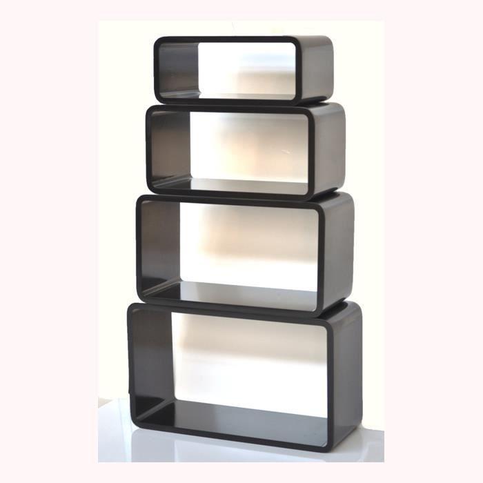lifestyle cube etagere l cu 08 noir achat vente meuble tag re l cu 08 noir cdiscount. Black Bedroom Furniture Sets. Home Design Ideas