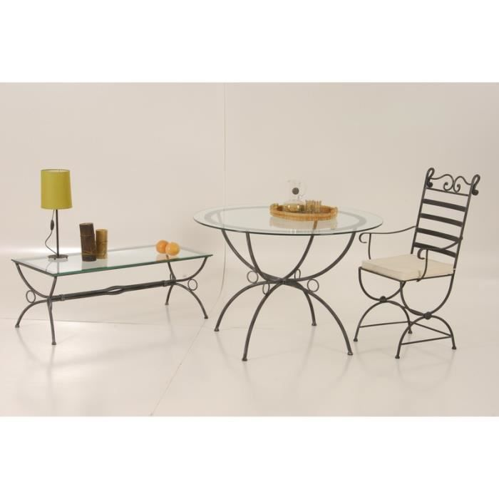 Table basse rectangulaire fer forg vogue meuble house - Table rectangulaire fer forge ...
