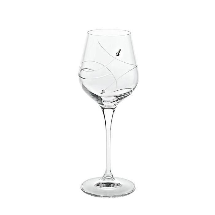 verre de vin blanc collection cristalica diamonds style moderne uniques achat vente. Black Bedroom Furniture Sets. Home Design Ideas