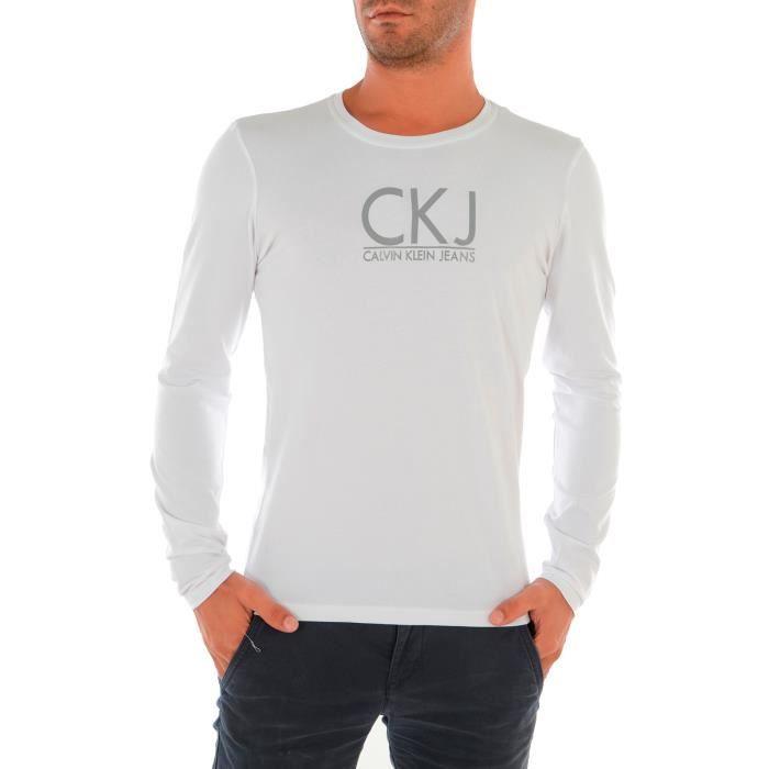 Shirt Calvin Klein jeans Manche longue Homme Achat / Vente t shirt