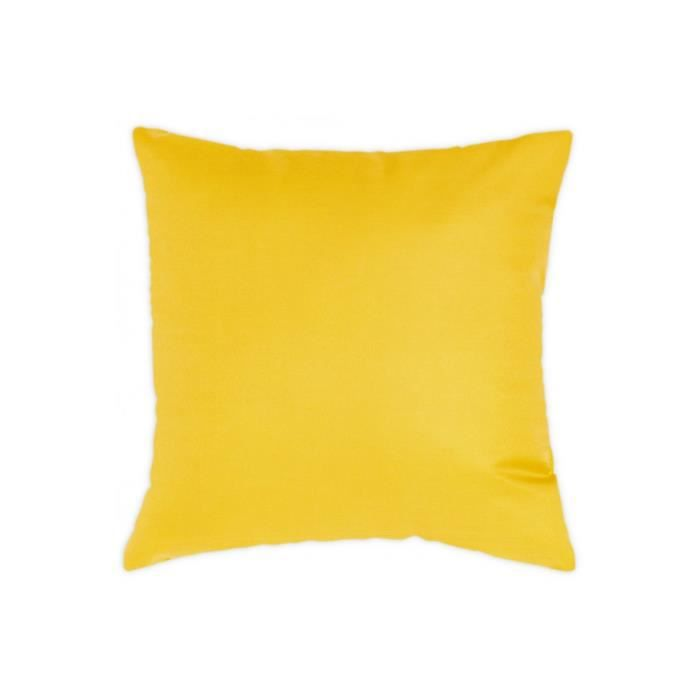 coussin 40x40 cm uni d houssable jaune achat vente. Black Bedroom Furniture Sets. Home Design Ideas