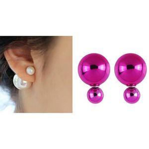 Boucles d oreille fushia achat vente pas cher les - Porte boucle d oreille pas cher ...
