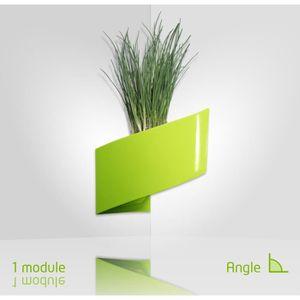 Modul 39 green 1 pot pour plantes mural design int rieur for Pot mural pour plante interieur