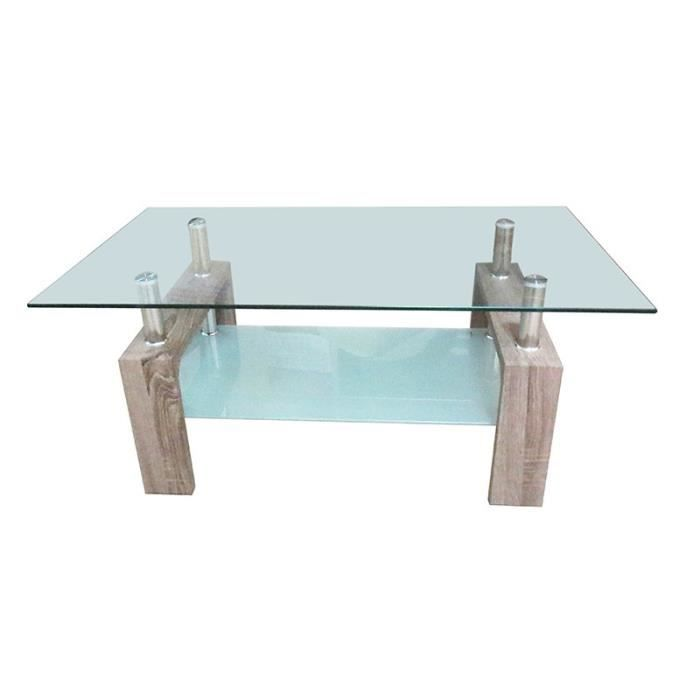 Table Basse Rectangulaire Gina Ch Ne Achat Vente Table